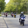 Motorcyclists in the city - Stock Photo