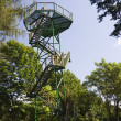 Review tower in the forest — Stock Photo