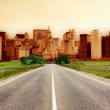 Stock Photo: Highway heading to city