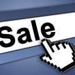 Sale icon — Stock Photo