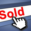 Sold icon — Stock Photo