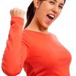 Woman Celebrating Success — Stock Photo