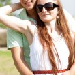 Cute couple hug — Stock Photo