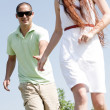 Couples Running At Park — Stock Photo #1145186