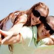 Young Couple Piggybacking — Stock Photo