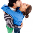 Stock Photo: Young couple hugging each other