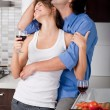 Stock Photo: Young couple hug