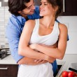 Husband about to kiss his wife — Stock Photo