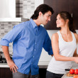 Young couple in the kitchen — Stock Photo #1148457