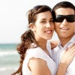 Foto de Stock  : Couple holding and smiling each other
