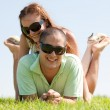 Happy couple enjoying in a park — Stock Photo