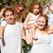 Royalty-Free Stock Photo: Happy family enjoying in the park
