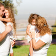 Royalty-Free Stock Photo: Side View of a family in the park