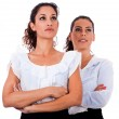 Closeup of two business woman — Stock Photo