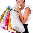 Royalty-Free Stock Photo: Women smiling with shopping bags