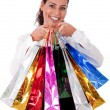 Happy Young woman with shopping bag — Stock Photo #1149675