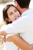 Closeup Of A beautiful Couple Hugging — Stock Photo