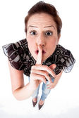Women ask you to be quiet — Stock Photo
