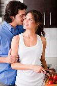 Husband tell his wife secret — Stock Photo