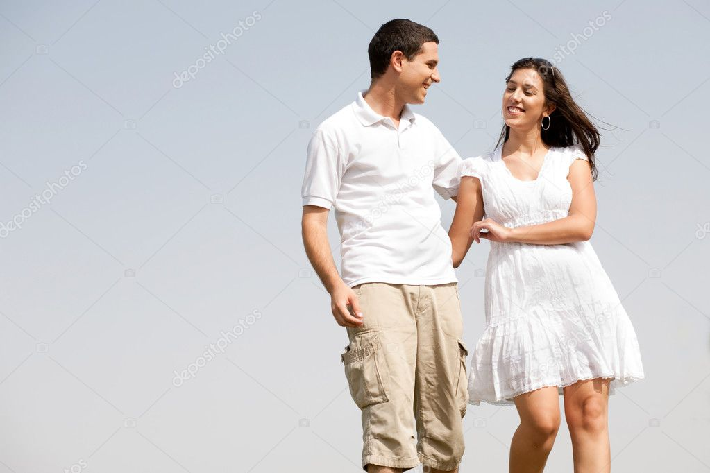 Young love couple walk togther and Hugging  — Stock Photo #1142182