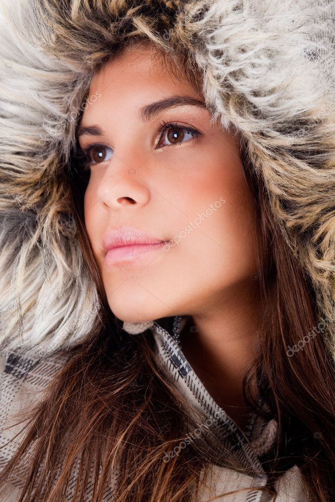 Closeup shoot of girl wearing woolen hat — Stock Photo #1148258