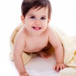 Baby showing its teeth — Stock Photo