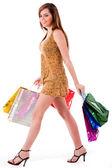 Beautiful girl enjoyed her shopping — Stock Photo