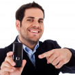 Man pointing his Mobile — Stock Photo #1301702