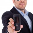Man with his sunglasses and Mobile — Stock Photo #1301712
