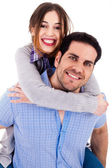 Man with her girlfriend — Stock Photo
