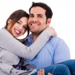 Young cheerful couples — Stockfoto