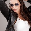 Attractive model wearing sunglasses — Stock Photo #1355908