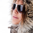 Royalty-Free Stock Photo: Italian model wearing sunglasses