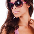 Stock Photo: Attractive woman wearing sunglasses