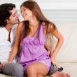Romantic young couple enjoying - Stock Photo