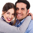 Beautiful young couple closeup shot — Stockfoto #1389921