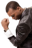 Young afro-american business man — Stock Photo