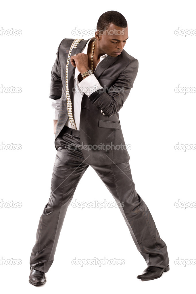 Black person dance on isolated background  Stock Photo #1461124