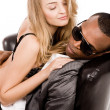 Young man enjoying with a sexy lady — Stock Photo #1554579