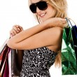 Stock Photo: Lovely model with shopping bags