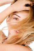 Mladý model s nádhernými vlasy — Stock fotografie