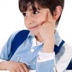 Portrait of school boy thinking — Stock Photo