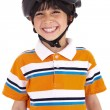 Kid with head cap ready for ride — Stock Photo #1965825