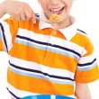 Young boy having his breakfast — Stock Photo #1965887