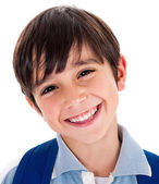 Closeup smile of a cute young boy — Stock Photo