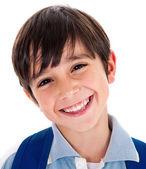 Closeup smile of a cute young boy — Stock Photo