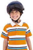 Kid with head cap ready for ride — Stock Photo