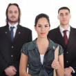 Stock Photo: Three young business collegue