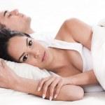 Couple in bed, men sleeping — Stock Photo #2007608