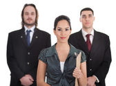 Three young business collegue — Stock Photo